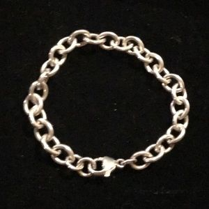 Sterling Silver Tiffany Style Chain Link Bracelet